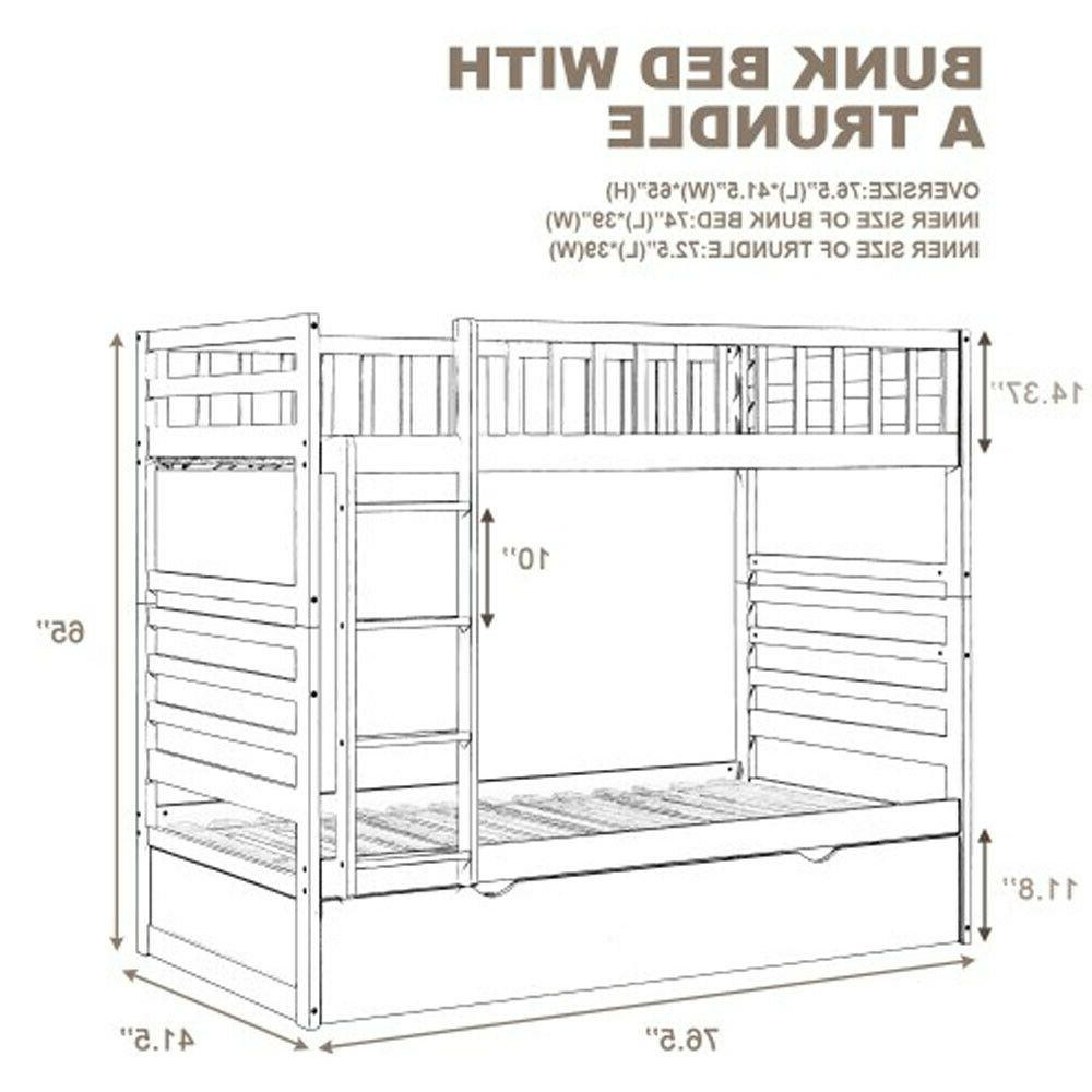Twin Bed Wood Bed Espresso