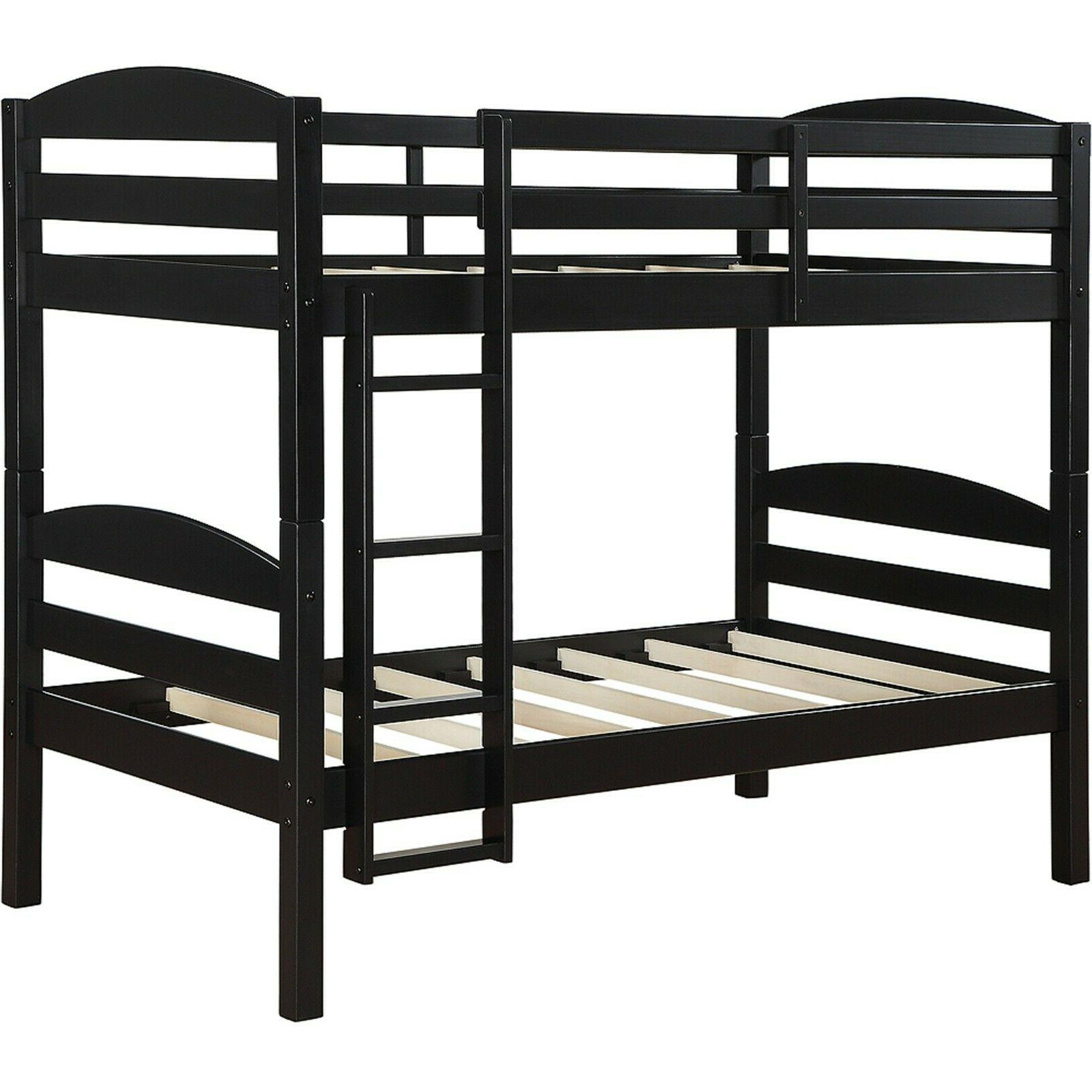 Twin Over Twin Beds for Kids Girls Boys Convertible Ladder &