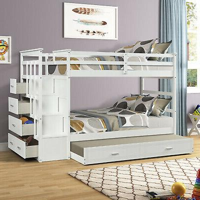 Twin Beds Kid Adult Loft Space