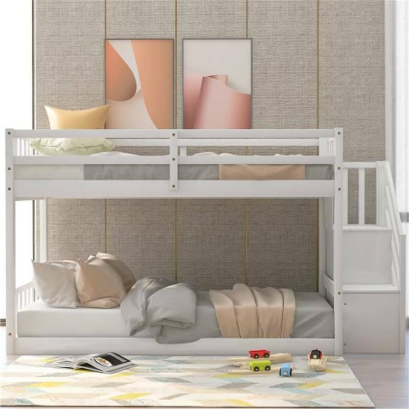 Twin Bunk Beds Wood Kids with