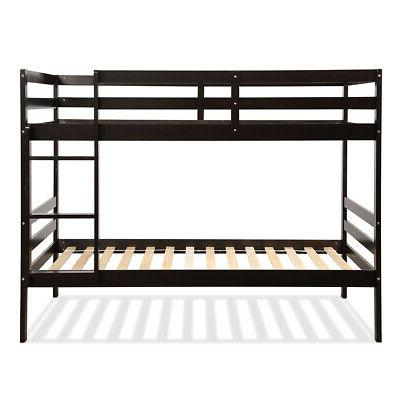 Twin Over Twin Bunk Safety Rail Bunk Espresso