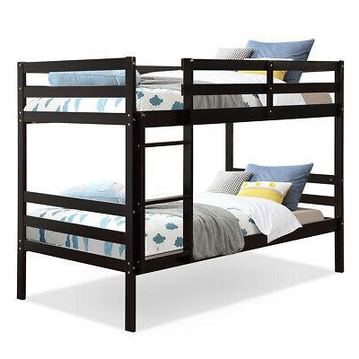 twin over twin wood bunk beds w