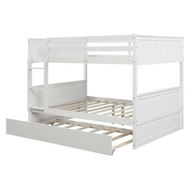 White Over Bunk Bed Trundle Frame
