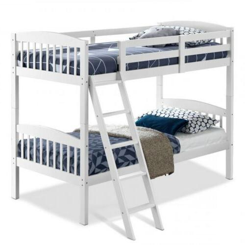 Wood Solid Twin Bunk Beds