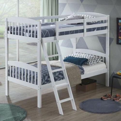 wood solid hardwood twin bunk beds convertable