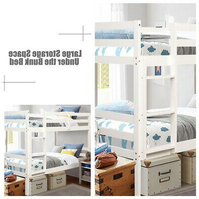 Wood Twin Bunk Twin Bunk Beds Kids Safety