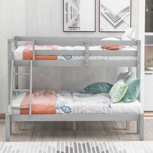 Wooden Bunk Over Full Size with Ladder for