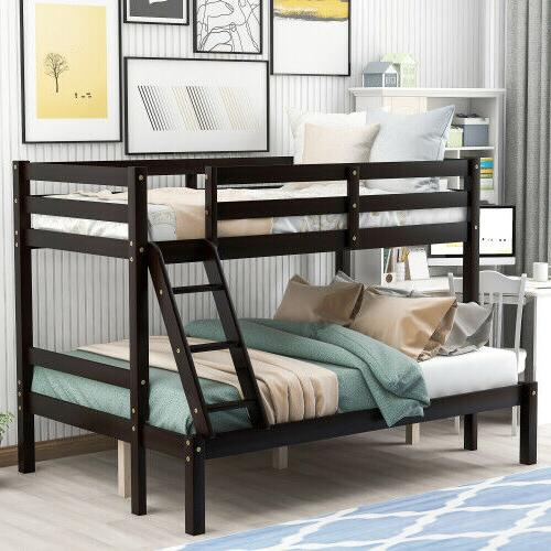wooden bunk beds twin over full size