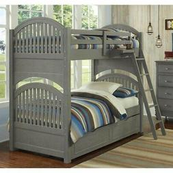 NE Kids Lake House Adrian Twin over Twin Bunk with Trundle i