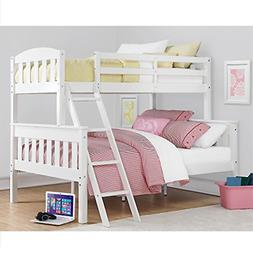 Dorel Living Airlie Twin over Full Bunk Bed in White
