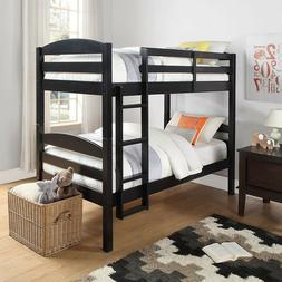 Mainstays Twin Over Twin Wood Bunk Bed Espresso New Free Shi