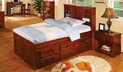 Discovery World Furniture Merlot Twin Bookcase Captains Bed