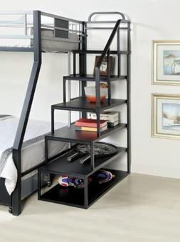 Furniture of America Metal Bunk Bed Side Ladder Bookshelf, S