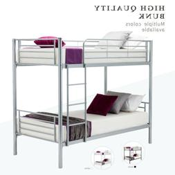 Metal Bunk Beds Frame Twin over Twin Ladder Bedroom Dorm for