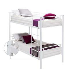Metal Twin over Twin Bunk Beds Frame Ladder for Kids Adult C