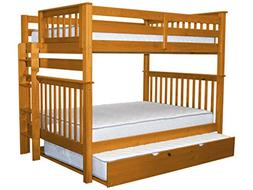 Bedz King Bunk Beds Full over Full Mission Style with End La
