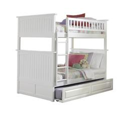 Atlantic Furniture Nantucket Bunk Bed Twin Over Twin with a