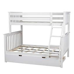 Max & Lily Solid Wood Twin over Full Bunk Bed with Trundle B