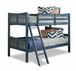 Storkcraft Caribou Solid Hardwood Twin Bunk Bed, Navy Twin B