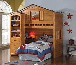 Acme Furniture Tree House Oak Bunk Bed Loft Twin Bed And Des