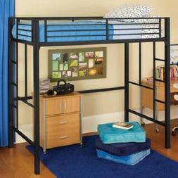 Twin Loft Metal Bunk Beds Teens Kids Bedroom Boys Girls Furn