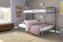 Twin Over Full Bunk Bed,5418096,62 X78 X78, Silver