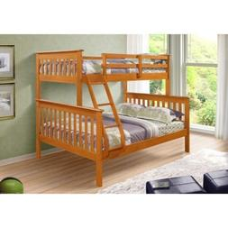 Twin over Full Size Bunk Beds with Trundle or Storage Drawer