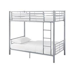 Monarch Twin over Twin Metal Bunk Bed Silver