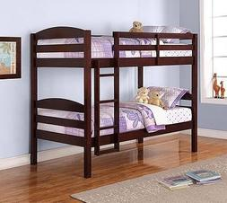 Mainstay Twin Over Twin Wood Bunk Bed,