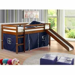Donco Kids Twin-size Tent Loft Bed with Slide
