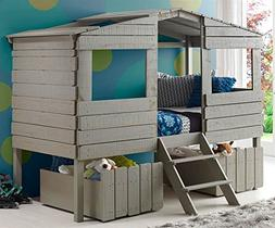 Donco Kids 1380-TLRG_1381-RG Tree House Low Loft Bed, Twin,