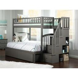 Westbrook Staircase Bunk Twin over Full with 2 Bed Drawers i