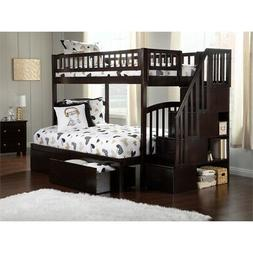 Atlantic Furniture Westbrook Staircase Storage Bunk Twin Ove