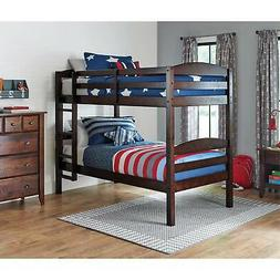 Bunk Beds Twin Over Twin Kids Wood w/ Stairs Convertible Uni