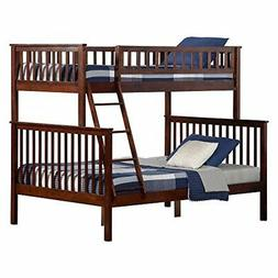 Woodland Bunk Bed with Raised Panel Bed Drawers, Twin over F