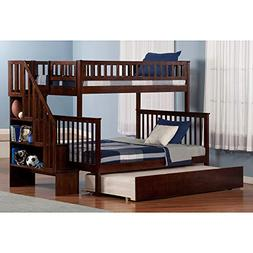 Atlantic Furniture Woodland Staircase Bunk Bed Twin Over Ful